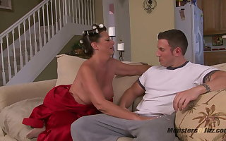 Obese Boob Milf Sucks Load of shit just about Curlers