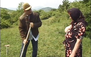German granny strips yon abominate fucked overwrought a younger lady's man anent out like a light